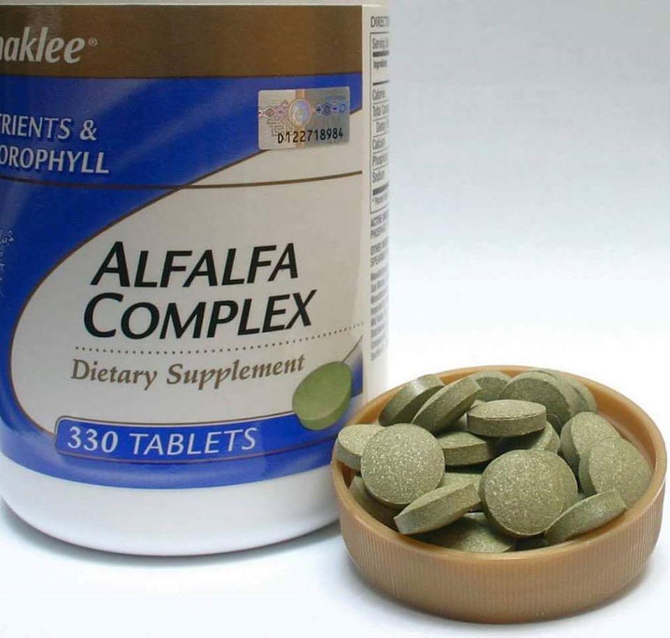 Alfalfa Complex Shaklee Atas Bekas Penutup
