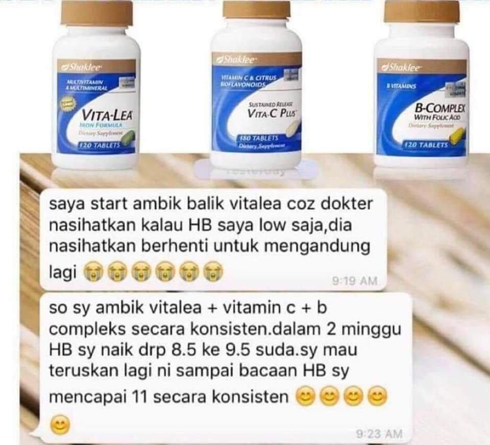 HB Naik 2 Minggu Konsisten Vitalea B-Complex Vita-C