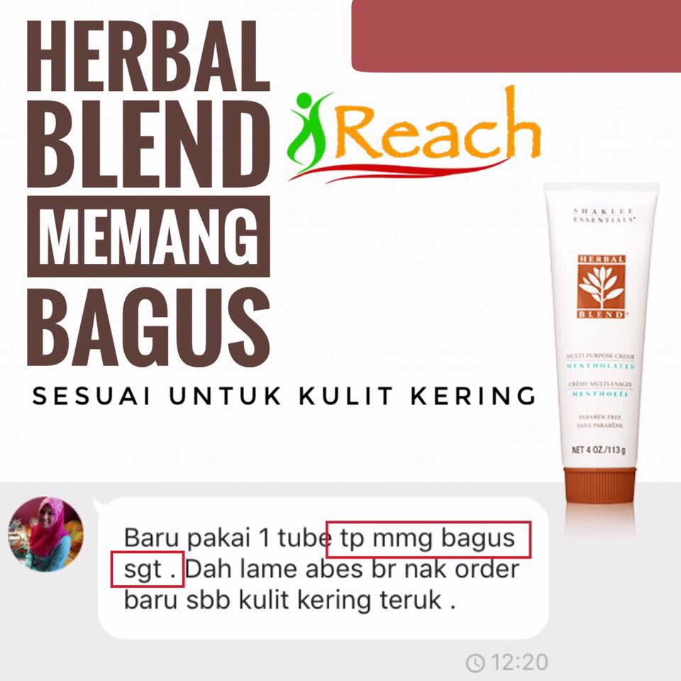 Testimonial Herbal Blend Shaklee